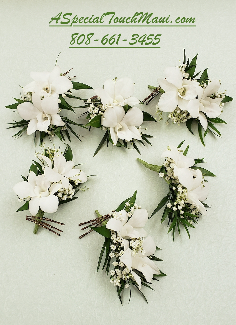 Double Orchid Hair Flowers $19.95 each