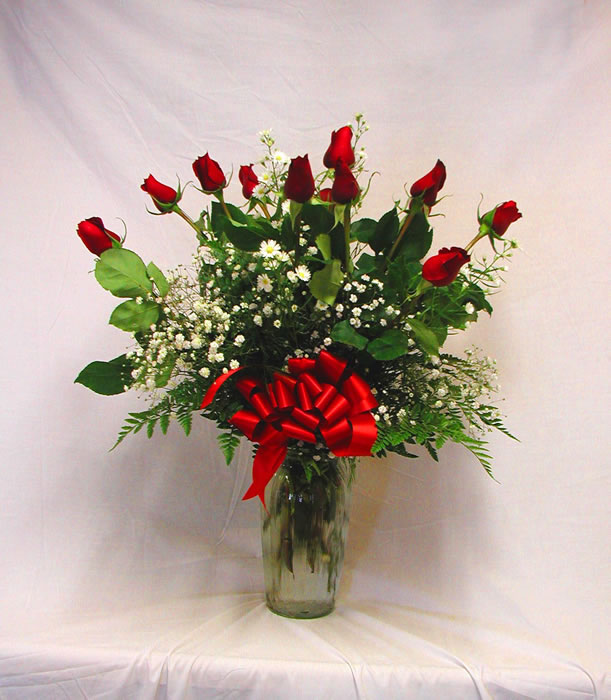 Rose arrangements a special touch florists serving for 12 dozen roses at your door