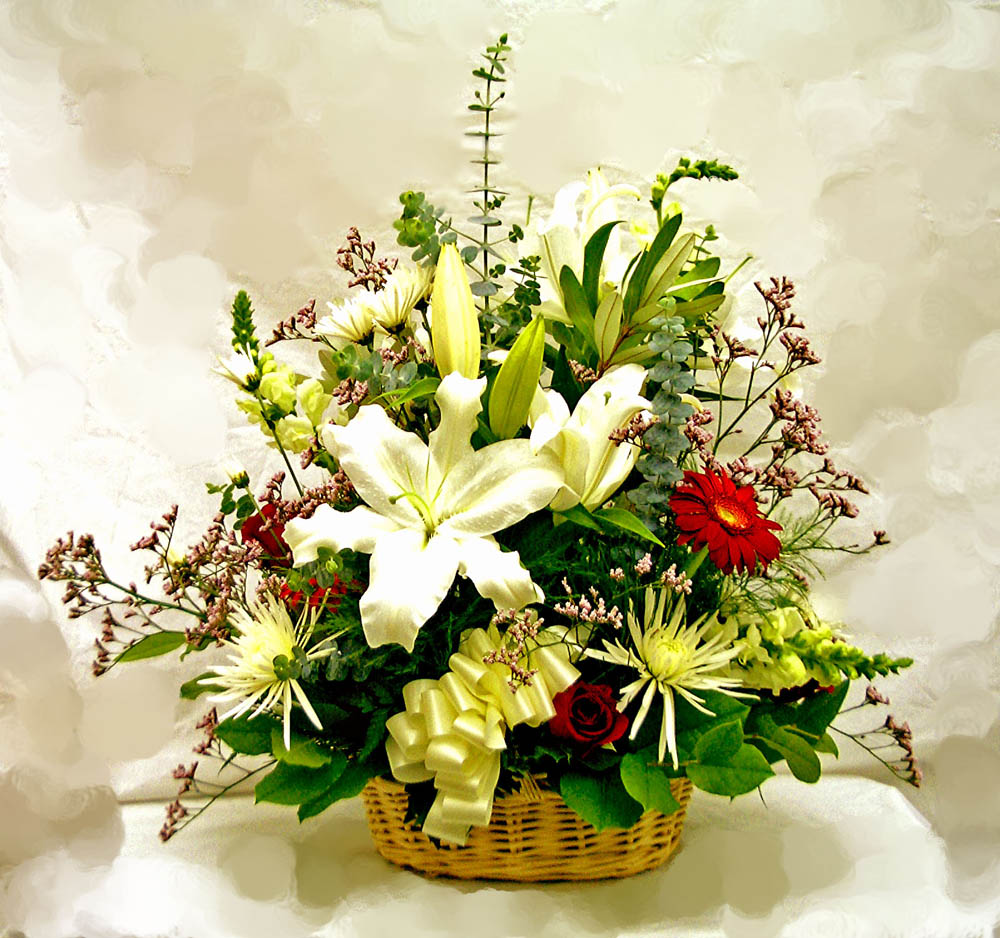 Sympathy flowers a special touch florists serving lahaina and large spring basket 2 14995 advance order may be required mightylinksfo