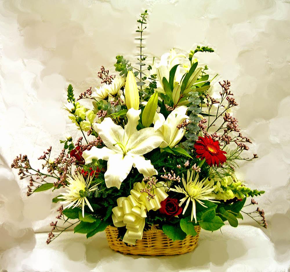 Basket Flower Decoration Similiar Floral Arrangements Large Basket Keywords