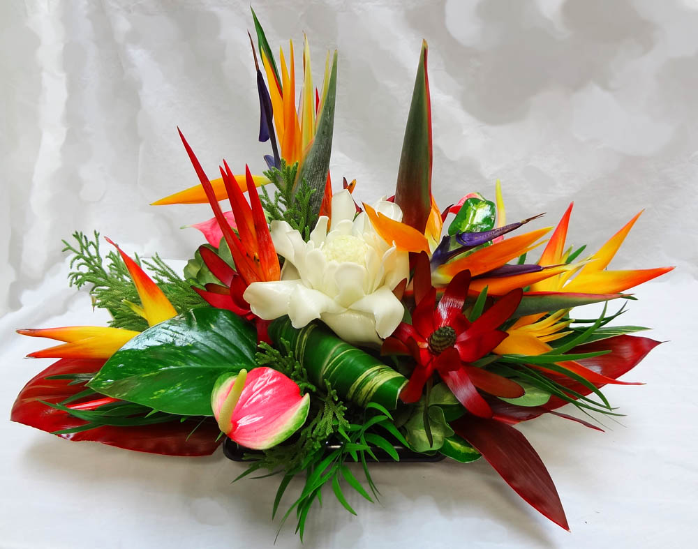 Tropical arrangements a special touch florists serving for A arrangement florist flowers