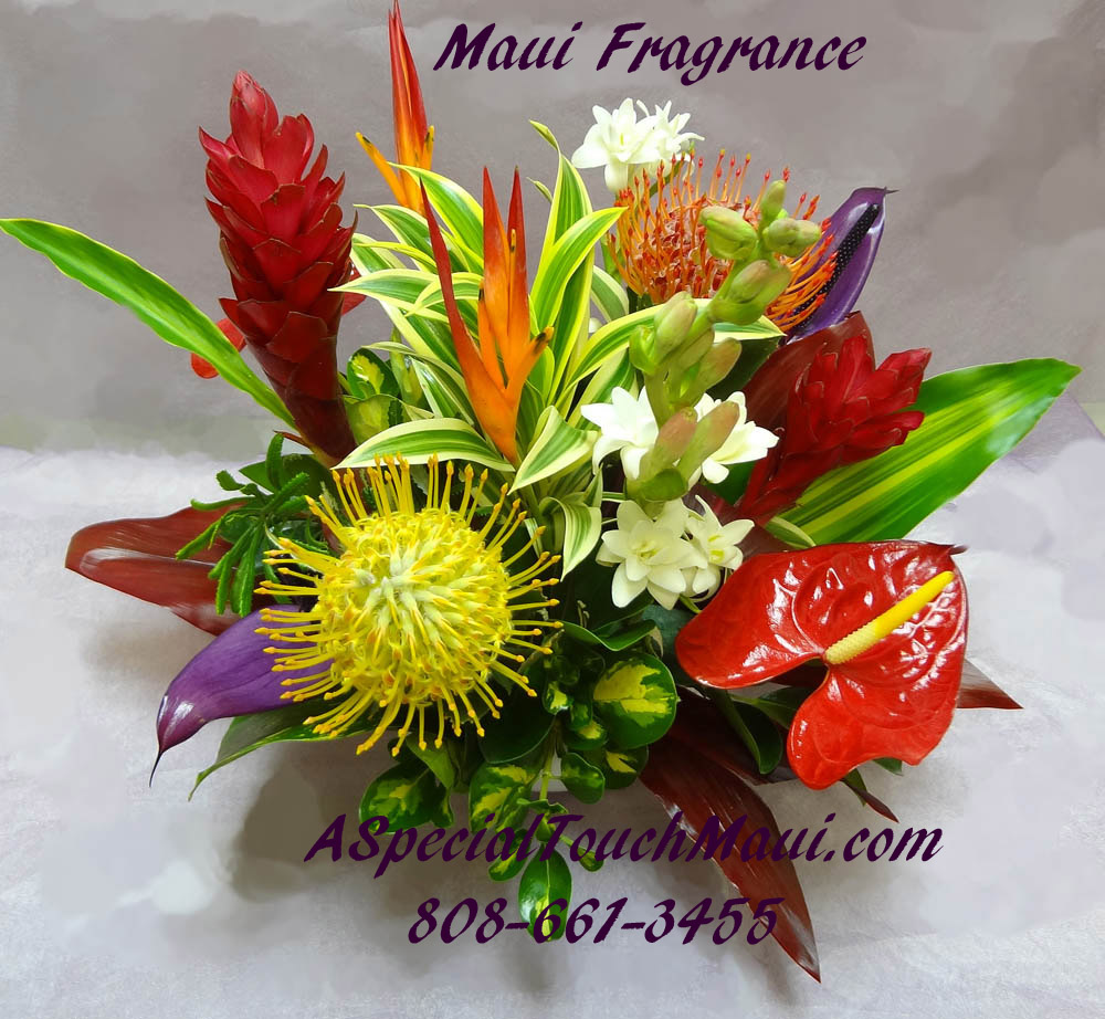 Tropical arrangements a special touch florists serving lahaina currently izmirmasajfo Images